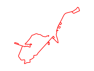Map showing location of Red Route Truncated